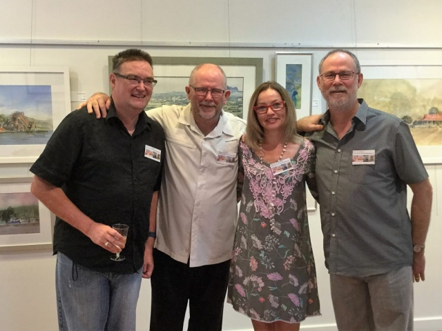After Grafton art group - Peter Conaghan, Bruce Griffiths, Sharon Wilkinson, Phil Cawthan